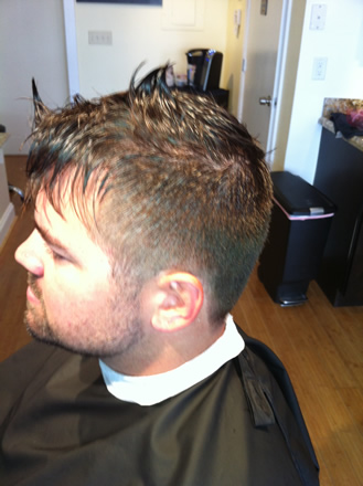 Men's haircuts at Jamil Michael Salon